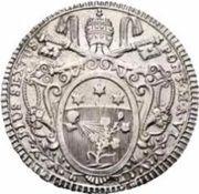1 Scudo - Pio VI (AVXILIVM DE SANCTO - Holy Mother Church) – obverse