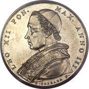 1 Scudo - Leone XII (AVXILIVM DE SANCTO - Holy Mother Church) – obverse