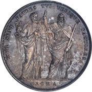 1 Scudo - Pio VIII (ISTI SVNT PATRES TVI VERIQVE PASTORES - St. Peter and Paul) – reverse