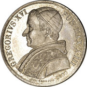 1 Scudo - Gregorio XVI (LVMEN AD REVELATIONEM GENTIVM - Jesus) – obverse