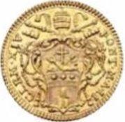 1 Zecchino - Clemente XIV (FIAT PAX IN VIRTVTE TVA - Holy Mother Church) – obverse