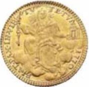 1 Zecchino - Clemente XIV (FIAT PAX IN VIRTVTE TVA - Holy Mother Church) – reverse