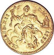 1 Zecchino - Clemente XII (DEDIT PIGNVS - Holy Mother Church) – reverse