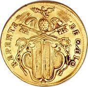 1 Zecchino - Benedetto XIV (REPENTE DE CÆLO - Holy Mother Church - Wide shield) – obverse