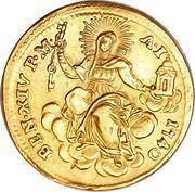 1 Zecchino - Benedetto XIV (REPENTE DE CÆLO - Holy Mother Church - Wide shield) – reverse