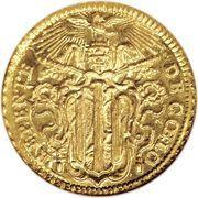 1 Zecchino - Benedetto XIV (REPENTE DE CŒLO - Holy Mother Church - Long shield) – obverse