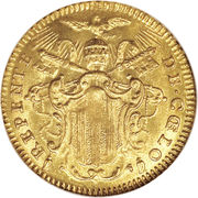 1 Zecchino - Benedetto XIV (REPENTE DE CŒLO - Holy Mother Church - Jubilee) – obverse