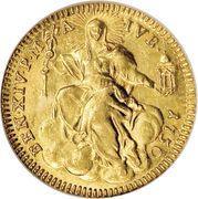 1 Zecchino - Benedetto XIV (REPENTE DE CŒLO - Holy Mother Church - Jubilee) – reverse