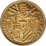 1 Zecchino - Clemente XIII (SVPRA FIRMAM PETRAM - Holy Mother Church - Facing) – obverse