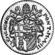 1 Zecchino - Clemente XIII (SVPRA FIRMAM PETRAM - Holy Mother Church - Facing right) – obverse