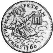1 Zecchino - Clemente XIII (SVPRA FIRMAM PETRAM - Holy Mother Church - Facing right) – reverse