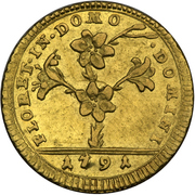 1 Doppia - Pio VI (APOSTOLOR PRINCEPS - St. Peter - Without value) – obverse