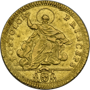 1 Doppia - Pio VI (APOSTOLOR PRINCEPS - St. Peter - Without value) – reverse