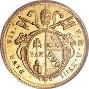1 Doppia - Pio VII (APOSTOLORUM PRINCEPS - St. Peter - Plain shield) – obverse