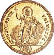 1 Doppia - Pio VII (APOSTOLORUM PRINCEPS - St. Peter - Plain shield) – reverse