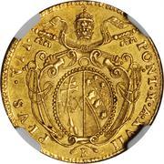 1 Doppia - Pio VII (APOSTOLORUM PRINCEPS - St. Peter - Ornate shield) – obverse