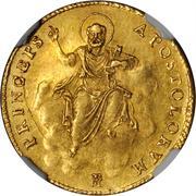 1 Doppia - Pio VII (APOSTOLORUM PRINCEPS - St. Peter - Ornate shield) – reverse