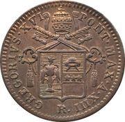 1 Quattrino - Gregorio XVI – obverse