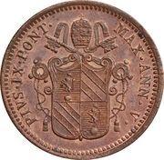 ½ Baiocco - Pio IX (Ornate shield) – obverse