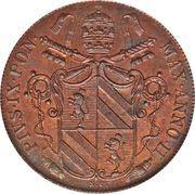 1 Baiocco - Pio IX (Open wreath) – obverse