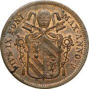 1 Baiocco - Pio IX (Closed wreath) – obverse