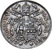 5 Baiocchi - Gregorio XVI – obverse