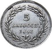5 Baiocchi - Gregorio XVI – reverse