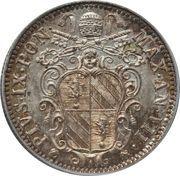 10 Baiocchi - Pio IX (900 Silver) – obverse