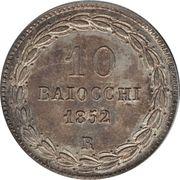 10 Baiocchi - Pio IX (900 Silver) – reverse