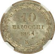 10 Baiocchi - Pio IX (800 Silver) – reverse
