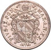 10 Baiocchi - Pio IX (835 Silver) – obverse