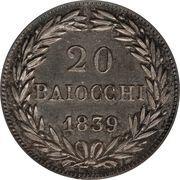20 Baiocchi - Gregorio XVI – reverse