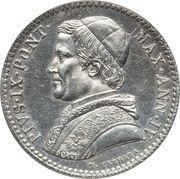 20 Baiocchi - Pio IX (900 Silver) – obverse