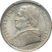 20 Baiocchi - Pio IX (800 Silver - Open wreath) – obverse