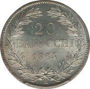 20 Baiocchi - Pio IX (800 Silver - Open wreath) – reverse