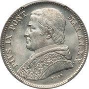 20 Baiocchi - Pio IX (835 Silver) – obverse