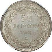 50 Baiocchi - Pio IX – reverse
