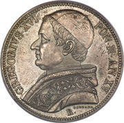 1 Scudo - Gregorio XVI – obverse