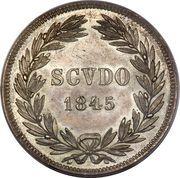 1 Scudo - Gregorio XVI – reverse