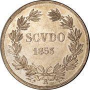1 Scudo - Pio IX – reverse