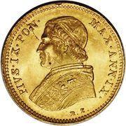 1 Scudo d'Oro - Pio IX (Smaller diameter) – obverse