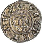 1 Denaro - Gregorio IV – reverse