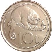10 Toea - Elizabeth II – reverse