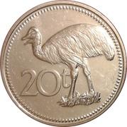 20 Toea - Elizabeth II -  reverse