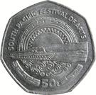 50 Toea - Elizabeth II (South Pacific Festival of Arts) – reverse