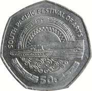 50 Toea - Elizabeth II (South Pacific Festival of Arts) – reverse
