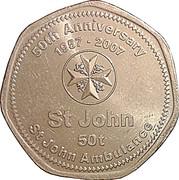 50 Toea - Elizabeth II (St. John Ambulance) – reverse