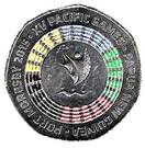 50 Toea - Elizabeth II (XV Pacific Games; colourized) – reverse