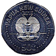 50 Toea - Elizabeth II (XV Pacific Games; non-colourized) – obverse