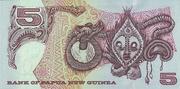 5 Kina (Silver Jubilee of Papua New Guinea) – reverse
